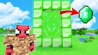 FAKİR ZÜMRÜT PORTALI BULDU (YİNE ZENGİN OLDU) 😱 - Minecraft
