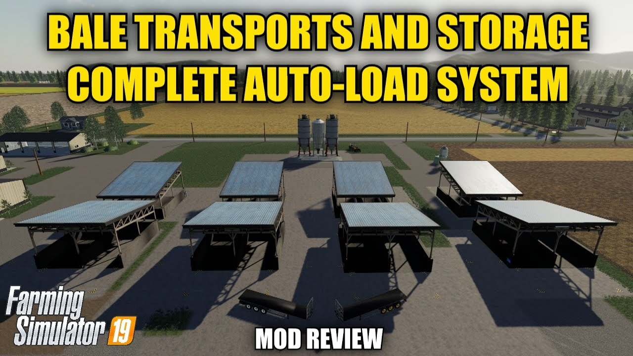 Auto-Load Bale Trailers & (8 Pc') Auto-Load Bale Storage Mod Review