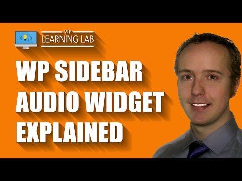 Create Playable WordPress Sidebar Audio Using The Audio Widget
