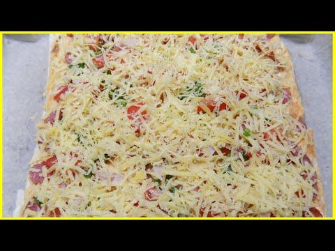 Рецепт пиццы с колбасой в домашних условиях в духовке с фото с колбасой и сыром