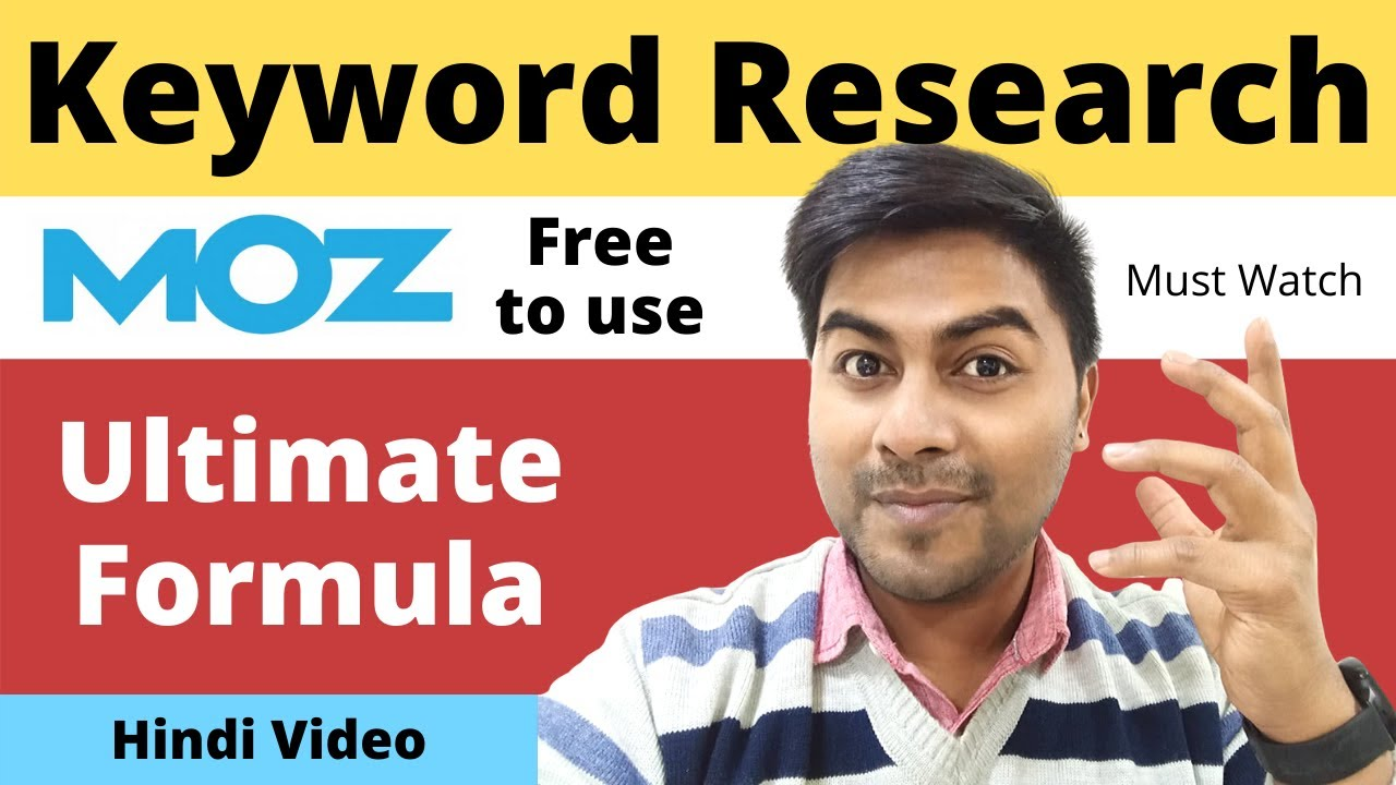 Download Keyword Research by using MOZ for guaranteed GOOGLE Seo Ranking - Digital Marketing - Roy Digital