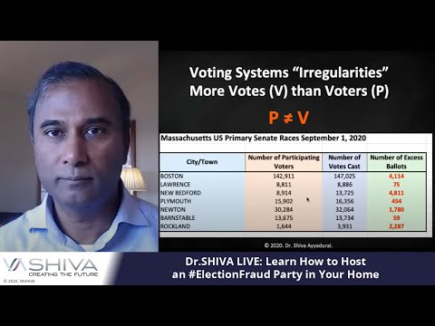Dr.SHIVA LIVE: Learn How to Host an #ElectionFraud Party in Your Home.
