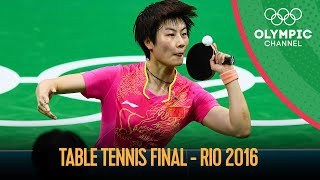 Women's Singles Table Tennis - Full Gold Medal Match | Rio 2016 Replays