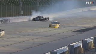 Nascar Camping World Truck Series 2018. Atlanta Motor Speedway. Josh Reaume & Dalton Sargeant Crash