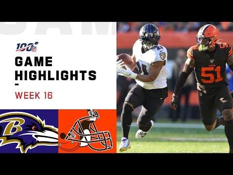 Ravens Vs. Browns Week 16 Highlights | NFL 2019