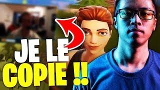 JE COPIE LES MOVES D'UN JOUEUR PRO FORTNITE !! - KINSTAAR GAMEPLAY