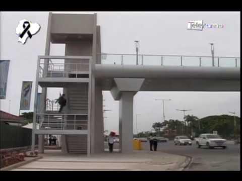 Inauguran paso peatonal que cuenta con ascensor y ciclovía