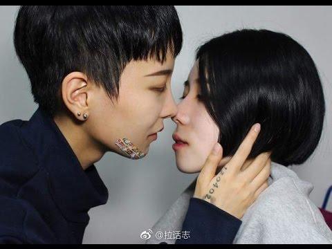 韩国真人女女CP情侣les情侣李荷娜和金景恩Kiss甜蜜向混剪