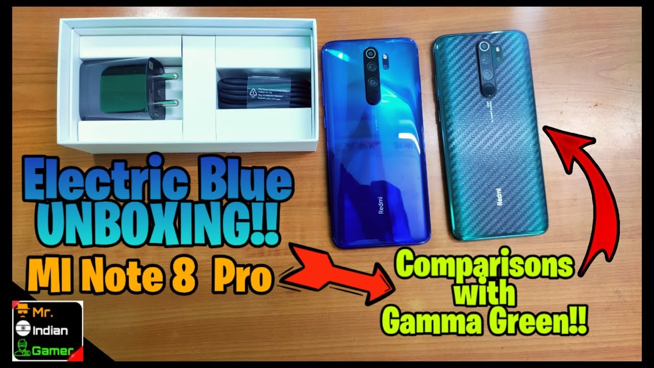 Redmi Note 8 Pro New Electric Blue Unboxing Comparison With Gamma Green Dabbakhol Mr Ig Youtube