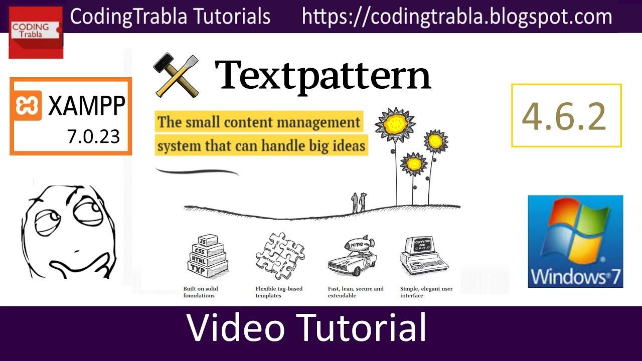 Install Textpattern 4.6.2 on Windows 7 localhost via XAMPP 7.0.23 ...