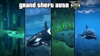 GTA 5 - Play as a Fish (Shark, Dolphin, Orca, Stingray & more) [PS4 & Xbox One]