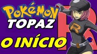 Pokémon Topaz (Hack) - O Início com Rockets e Fakemons (Gameplay em Português)