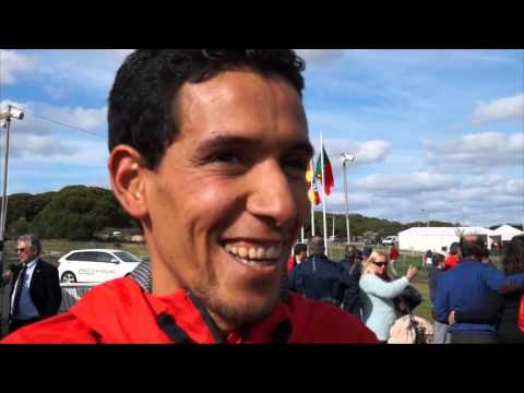 Ayad Lamdassem (ESP) after 2nd place at the ECCC, Albufeira 2014