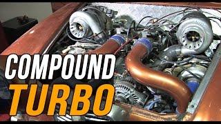 Compound turbo V6