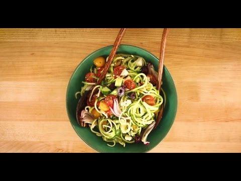 How to Make Greek Zoodle Salad | Vegetarian Side Dish Recipes | Allrecipes.com