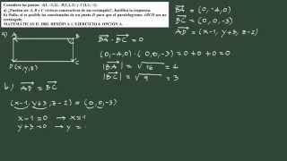 12. Ejercicio 12 PAU geometría: hallar el cuarto vértice de un rectángulo.