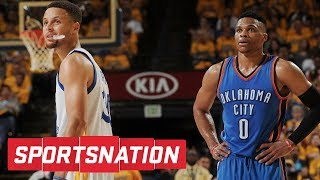 Should Steph Curry be ranked ahead of Russell Westbrook?? | SportsNation | ESPN
