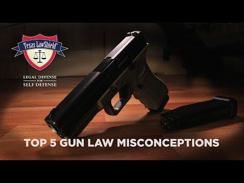 Top 5 Gun Law Misunderstandings Texas