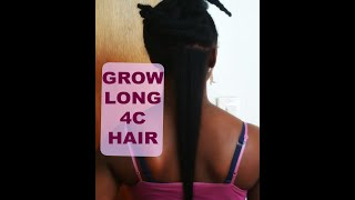 6 Tips to grow long 4c hair