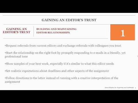How to Build Editor Relationships & Land More Assigments -- Tips for Freelance Writers