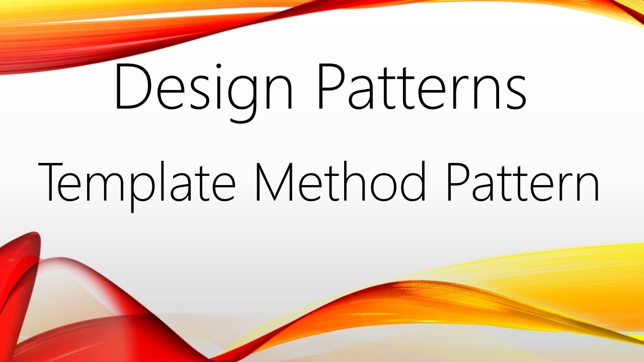 Template method pattern c youtube template method pattern c maxwellsz