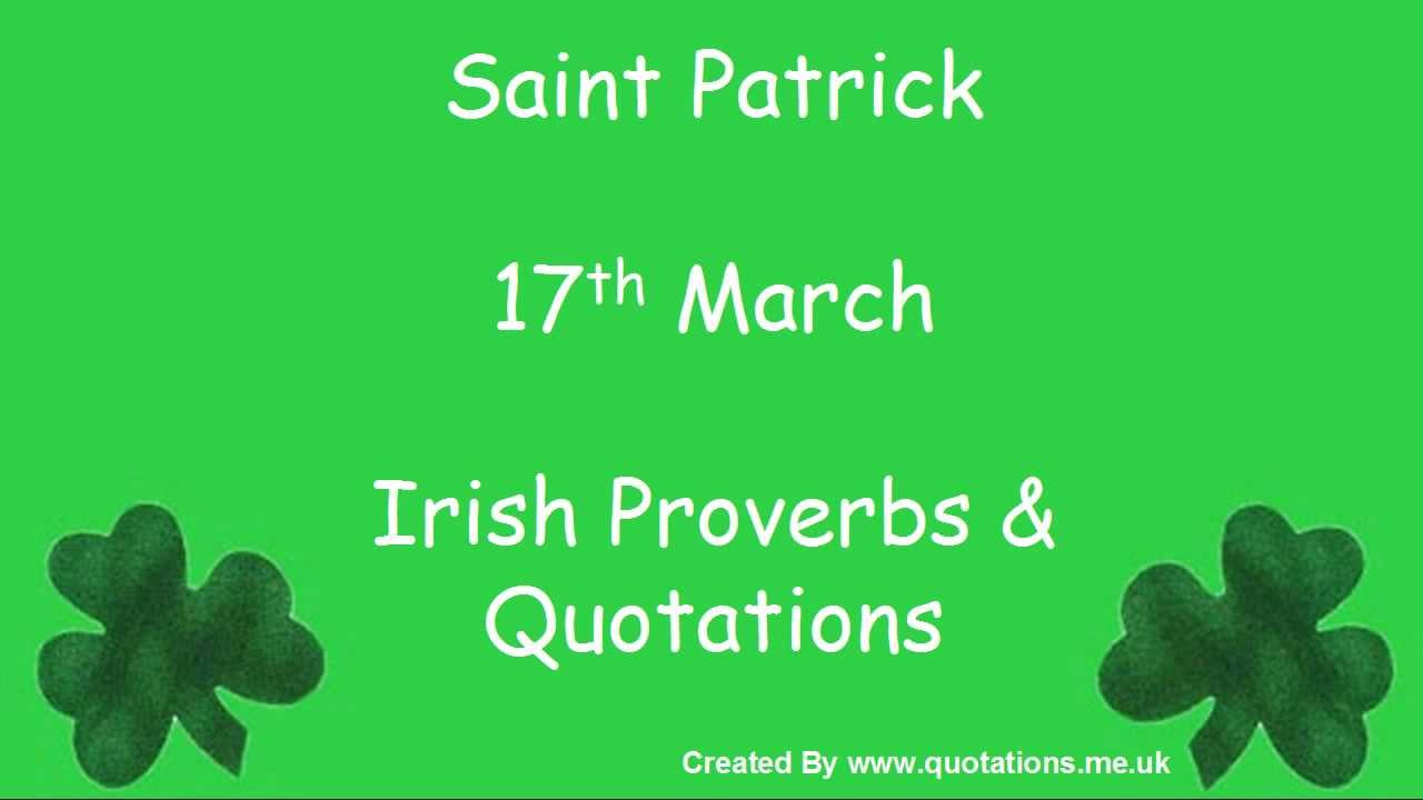 Irish Proverbs Quotes St Patricks Day Famous