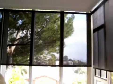 Interior Solar Shade Motorized Solarus Sun Shades Youtube