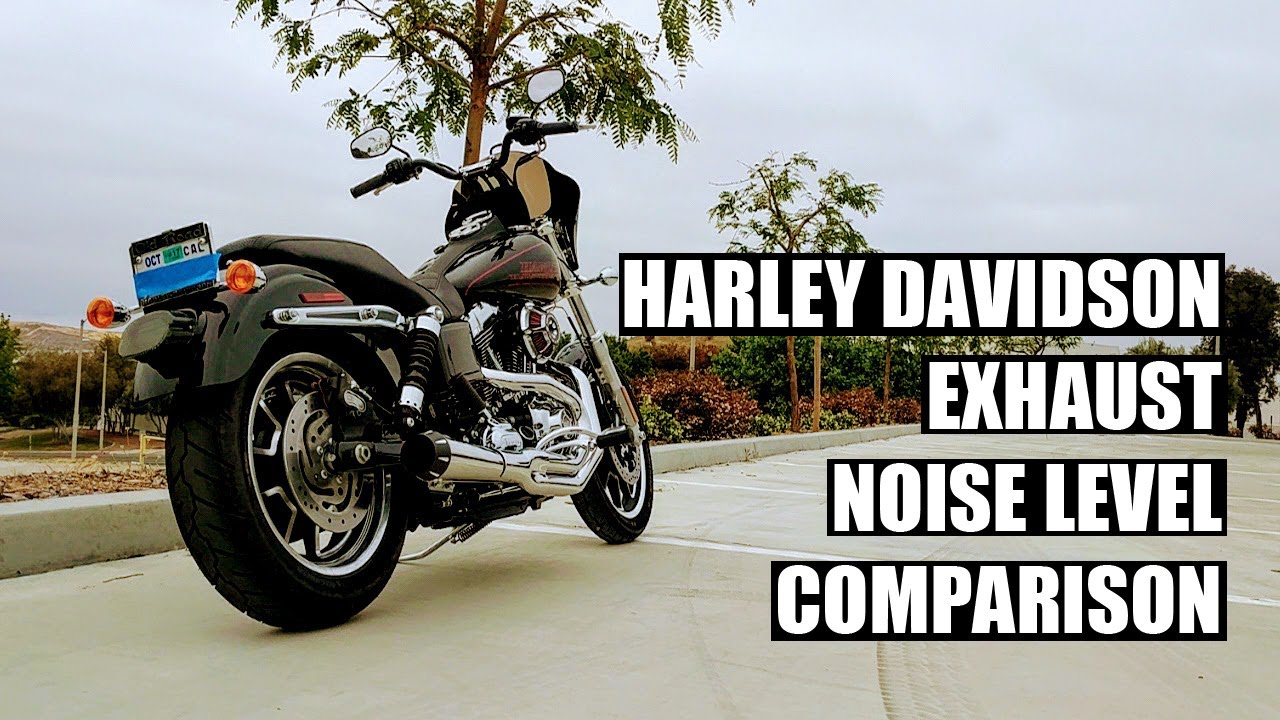 Harley Exhaust noise level comparison - Stock vs Bassani