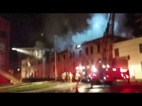 Abandoned Soap Factory Fire in East Dayton, Ohio