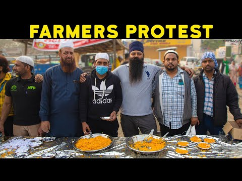Farmers Protest At Singhu Border