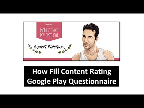1  - How Fill Content Rating Google Play Questionnaire