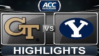 2013 ACC Football Highlights | Georgia Tech vs BYU | ACCDigitalNetwork