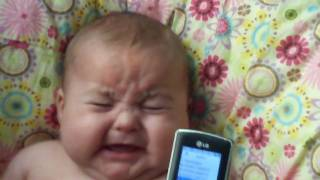 SO FUNNY!!! Bryson scared to hear a baby laughing! thumbnail