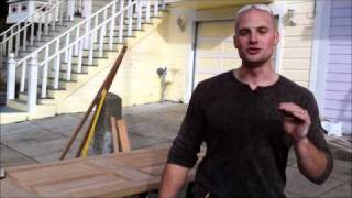 HGTV's Chip Wade shows viewers how to flush cut mortises into a mah...