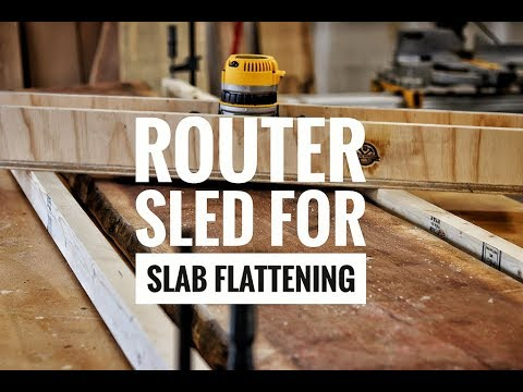 Walnut Epoxy Table Part 1 | Making a Router Sled | How To