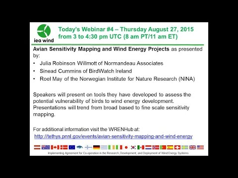 WREN Webinar #4: Avian Sensitivity Mapping and Wind Energy