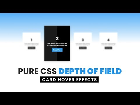 Pure CSS Depth Of Field Card Hover Effects | Html CSS