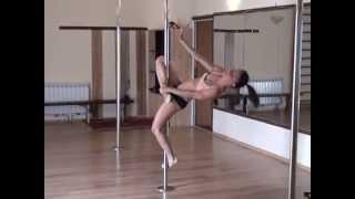 """Pole dance.Уроки танцев. Элемент """"Гейзер"""""""