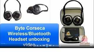 Byte Corseca Wireless Bluetooth Headset unboxing video