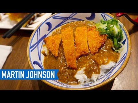 Eating Japanese Food at Marugame Udon in Yogyakarta