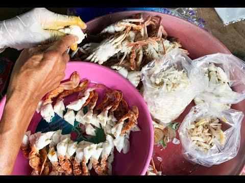 ดูวิธีแกะเนื้อปูม้าส่งขาย กิโลละเป็นพัน บ้านหัวแหลม อ่าวคุ้งวิมาน จันทบุรี