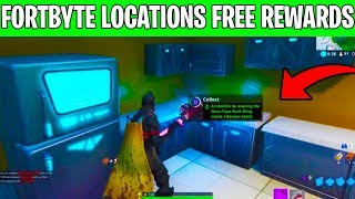 All Fortbyte Locations! NEW REWARDS 1-100 Rewards! -Fortnite Battle Royale