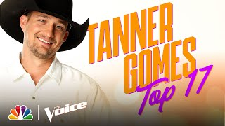 "Tanner Gomes Keeps It Country with Luke Combs' ""Lovin' On You"" - The Voice Live Top 17 Performances"