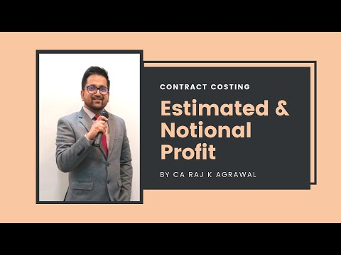 Contract Costing | Estimated & Notional Profit by CA Raj K Agrawal