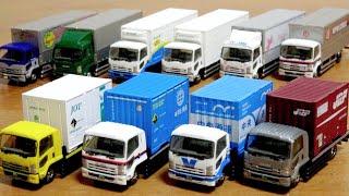 はたらくくるま トラックがいっぱい☆ザ・トラックコレクション 第11弾 いすゞのトラック祭り 運送会社の車両 高級トミカ TOMY TEC 1BOX開封 シークレットゲット☆