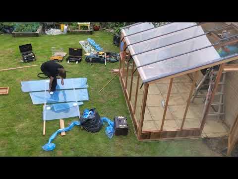 Time-Lapse Video Of A Beautiful Cedar Wood Greenhouse Build