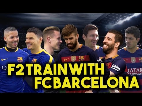 Thumbnail: F2 TRAIN WITH FC BARCELONA - MESSI, SUAREZ, PIQUE, TURAN & TER STEGEN! Learn the Barça Way with Beko