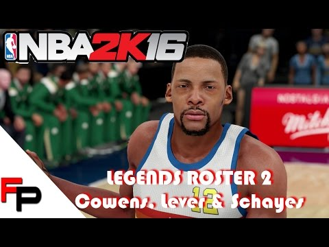 NBA 2K16 - How to Create Dave Cowens, Fat Lever & Dolph Schayes - Legends Roster 2