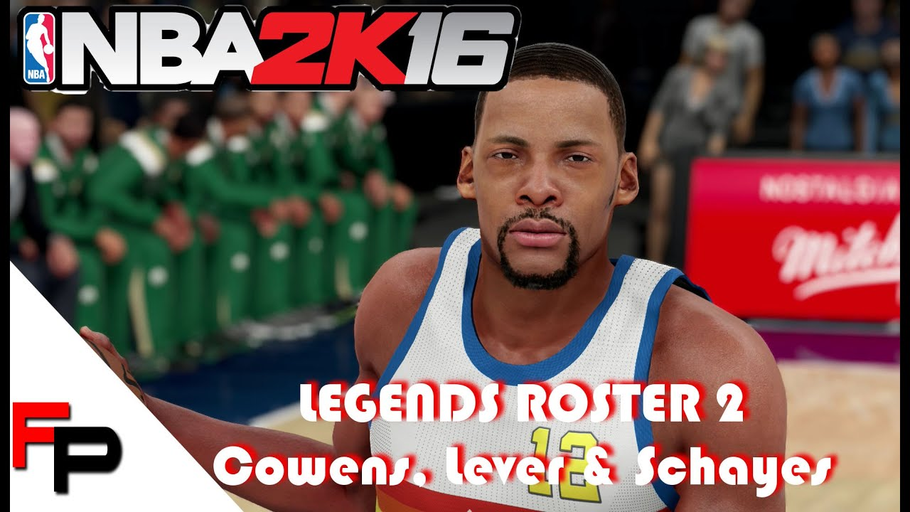 NBA 2K16 How to Create Dave Cowens Fat Lever & Dolph Schayes