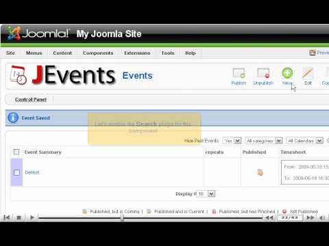 How To Add A Calendar To Your Joomla Site Using JEvents - Joomla Tutorials